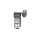 24W LED Vapor Tight Jelly Jar w/ Wall Mount, 150W Inc. Retrofit, 1890 lm, 3000K
