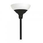 24W LED Torchiere Light w/ A19 Bulb, Dimming, E26 Base, 2200 lm, 2700K, Black