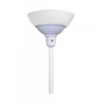 24W LED Torchiere Light w/ A19 Bulb, Dimming, E26 Base, 2200 lm, 2700K, White