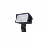 120W LED Large Flood Light w/ Slipfitter Mount & 3-Pin Receptacle, Dim, 5000K
