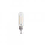 4W LED T8 Filament Bulb, Dimmable, E12, 300 lm, 120V, 2700K