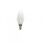 3W LED Filament B10 Bulb, 40W Inc. Retrofit, Dim, E12, 325 lm, 2700K, Frosted