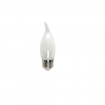 3W LED Filament BA10 Bulb, 40W Inc. Retrofit, Dim, E26, 325 lm, 2700K, Frosted