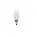 5W LED Filament B10 Bulb, 60W Inc. Retrofit, Dim, E12, 525 lm, 2700K, Frosted