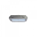 43W Hazard Rated LED Wall Pack, 150W HID Retrofit, 5538 lm, 5000K, Grey
