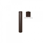 4x15-ft Steel Round Pole with Drilled Top for Outdoor Lights