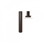 4x15-ft Steel Round Pole with Tenon Top for Outdoor Lights