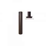 4x20-ft Steel Round Pole with Tenon Top for Outdoor Lights