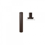 3x8-ft Steel Round Pole with Tenon Top for Outdoor Lights