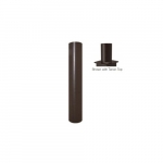 3x12-ft Steel Round Pole with Tenon Top for Outdoor Lights