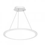 2' 40W LED Pendant Panel Light, Round, Indirect/Direct Model, 0-10V Dim, 3200lm, 3500K