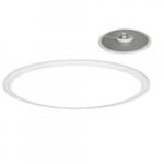 2' 40W LED Pendant Panel Light, Round, Direct Model, 0-10V Dim, 3200 lm, 4000K