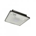 20W Low-Profile LED Canopy Light w/Photo, 100W MH Retrofit, 0-10V Dim, 2278 lm, 5000K