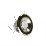 "6"" 13W LED Recessed Downlight, 65W Inc. Retrofit, Dim, 600 lm, 120V, 3000K, Nickel"