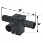 Square Pole Fitter, Horizontal, 3 90 Degree Tenons