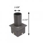 Square Pole Fitter, Vertical, Single Tenon