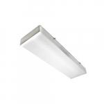 2-ft 32W LED Utility Light Fixture, Dim, 3017 lm, 120V-277, 5000K