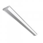8-ft 60W Polygon LED Linear Light Fixture, 0-10V Dim, (3) 32W MH Retrofit, 6300lm, 5000K