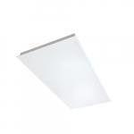 46W 2x4-ft Direct Lit LED Flat Panel, Side Mount Driver, 0-10V Dim, 4400 lm, 3500K