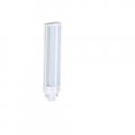8W Horizontal LED PL Bulb, 675 lm, Direct Line Voltage, G24Q, 3000K