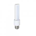 6W Retrofit LED PL Bulb, E26 Base, 3000K