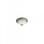23W LED Flush Mount Ceiling Fixture, 100W Inc Retrofit, Dim, 1567 lm, 2700K, Nickel