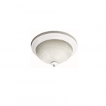 23W LED Flush Mount Ceiling Fixture, 100W Inc Retrofit, Dim, 1567 lm, 2700K, White