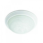 17W LED Flush Mount Ceiling Light, 0-10V Dim, 75W Inc Retrofit, 1124 lm, 2700K