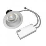 22.4W LED Commercial Downlight Retrofit, 0-10V Dim, 2 x 26W PL Retrofit, 1680 lm, 3000K