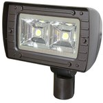 Gray, 80W LED Architectural Flood Light, 4100K, 250W MH