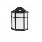 14W LED Integrated Outdoor Lantern w/ Photocell, 1166 lm, 120V, Black