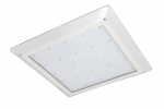 80W Recessed LED Canopy Fixture, Dimmable, 5000K, 320W MH Equivalent