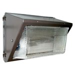 120V Photocell, 40W LED Wallmax Security Wall Pack, 347V-480V, Bronze
