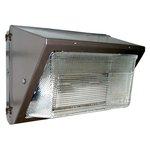 120V Photocell, 80W LED Wallmax Security Wall Pack, 5000K, 120-277V, Bronze