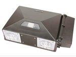 347V - 480V, 60W Precision LED Security Wall Pack, 5000K, Bronze
