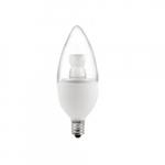 5W LED Candelabra Bulb, Clear Finish, 2700K