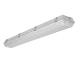29W 4' LED Vapor Tight Linear Fixture With Microwave Motion Sensor, 5000K