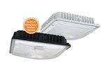 45W LED - Slimline Canopy with Microwave Sensor, 5000K, 120-277 V, White