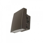 15W LED Adjustable Wall Pack, 100W Inc. Retrofit, Dimmable, 1800 lm, 5000K, Dark Bronze