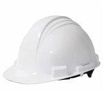 White 4 Point Suspension Hard Hat