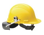 Yellow 4 Point A-Safety Peak Hard Hat