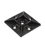 "1x1"" Adhesive Tie Mount, Black, 100/Pack"