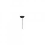 "6"" Extension Rod for Square Pendant Light, Black"