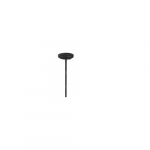 "12"" Extension Rod for Square Pendant Light, Black"