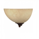 "12"" Tapas Sconce Light, Tuscan Suede Glass, Old Bronze"