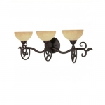 "24"" Tapas Vanity Light, Tuscan Suede Glass, Old Bronze"