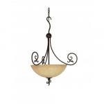 """24"""" Tapas Pendant Light, Tuscan Suede Glass, Old Bronze"""