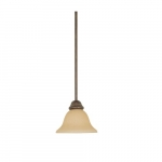 "100W 45"" Adjustable Mini Pendant Light w/Hang Straight Canopy, 1-Light, Bronze"