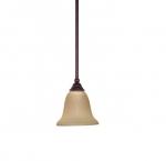 100W 7 in. Mericana Mini Pendant, Hang Straight Canopy, Bronze