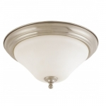 "Dupont 15"" LED Flush Mount Light, Satin White Glass"